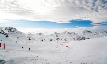 View on the fun slope