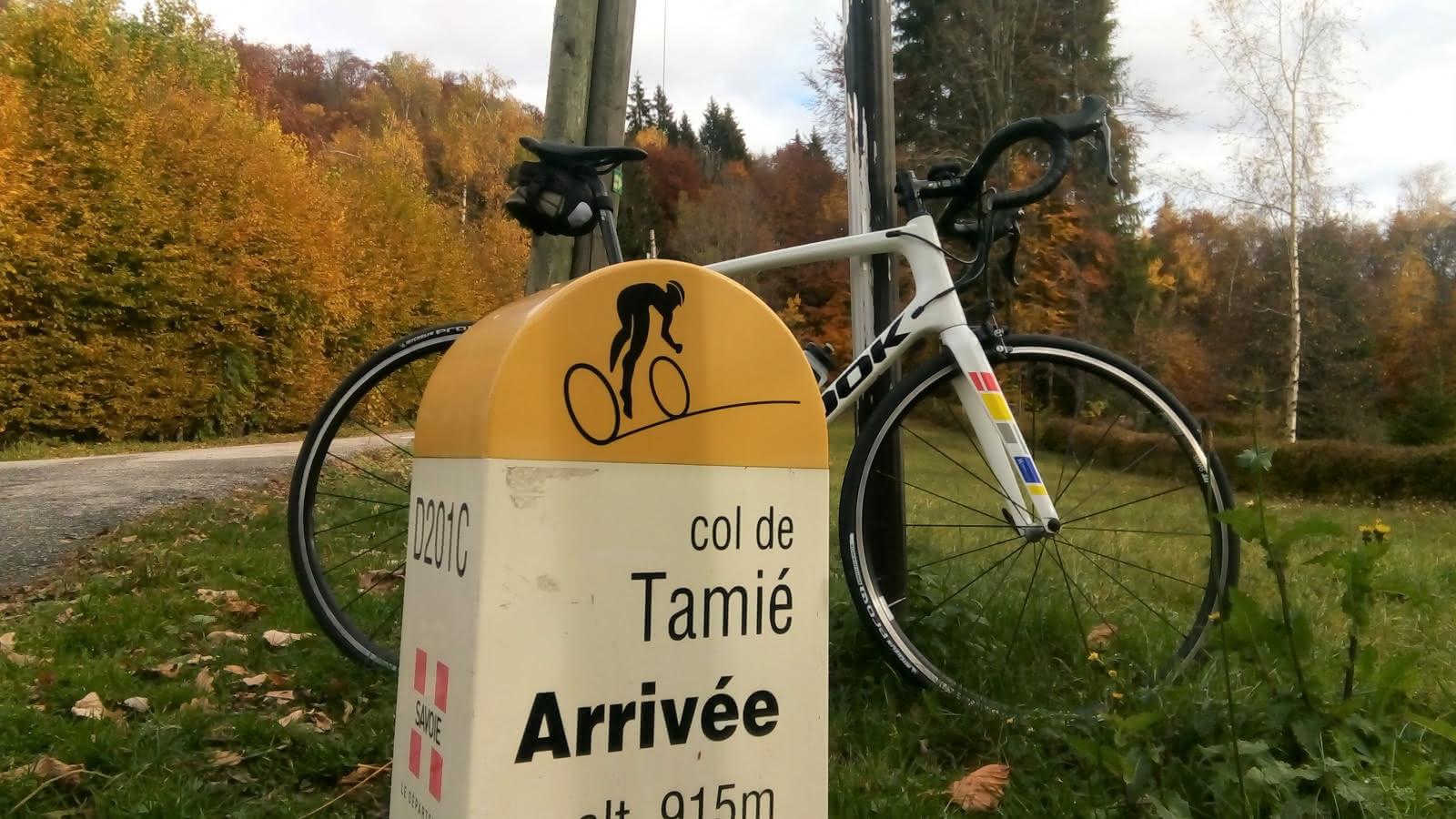 Arrivée au Col de Tamié