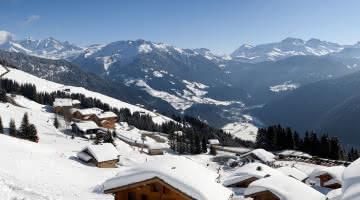 Vue sur le Mont-Blanc depuis Bisanne 1500