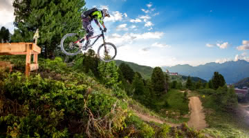 Downhill mountain biking in La Plagne