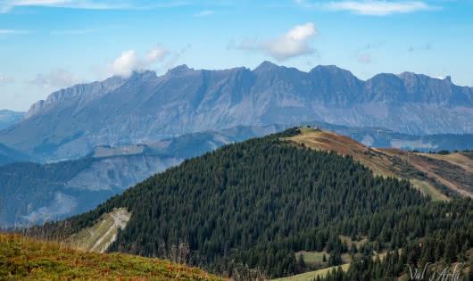 Val d'Arly E-Bike Tour - 19 et 20 septembre 2020 - Vue sur les Aravis